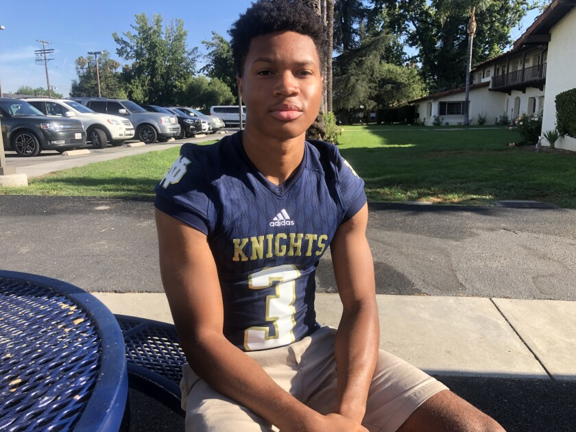Cornerback Sean Guyton of Sherman Oaks Notre Dame is a defensive back to watch in 2019.
