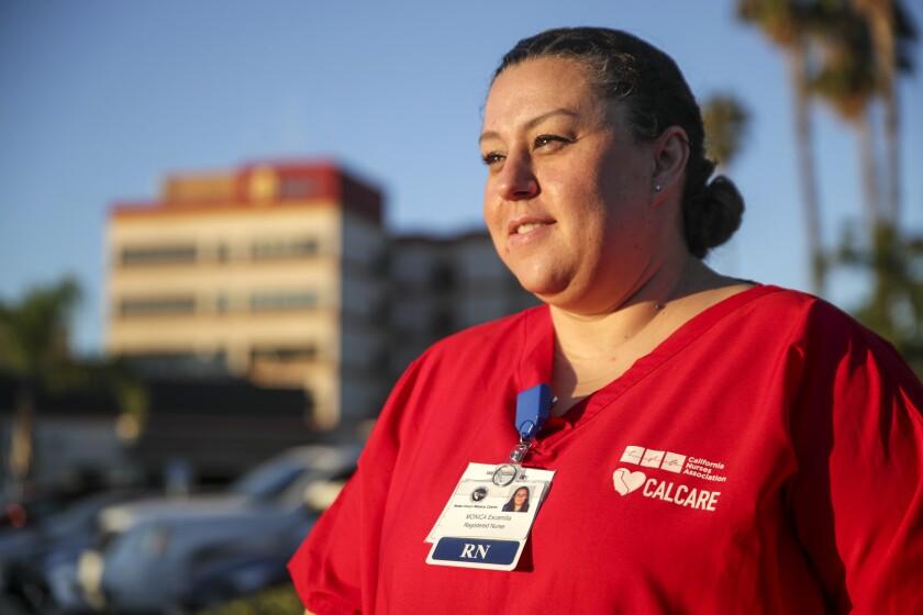 Registered nurse Monica Escamilla, in Hemet, Calif.