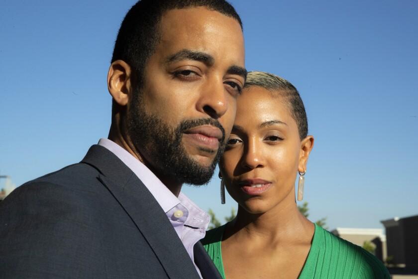 "Writer-director Rashaad Ernesto Green and cowriter/star Zora Howard of ""Premature"""