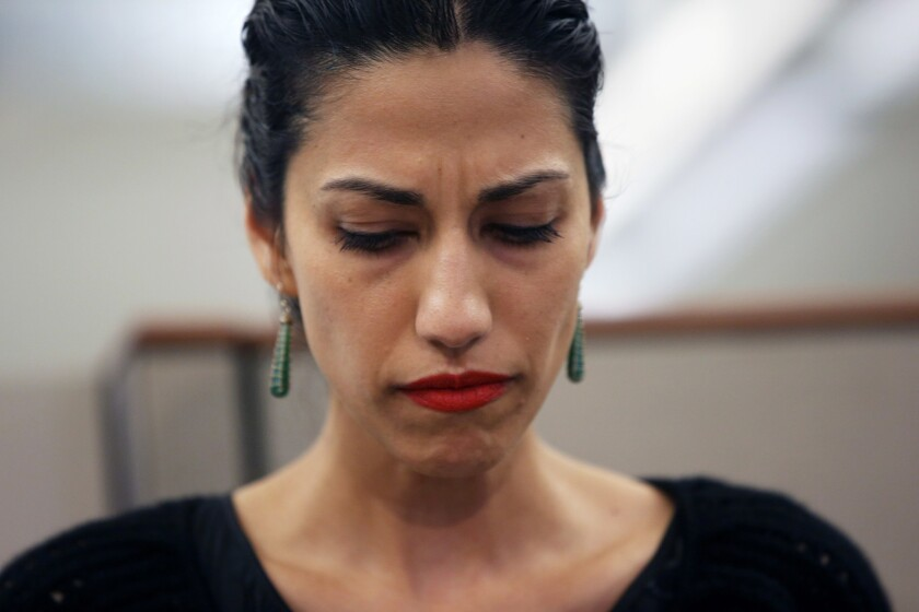 Huma Abedin is Democratic presidential nominee's Hillary Clinton's closest aide.