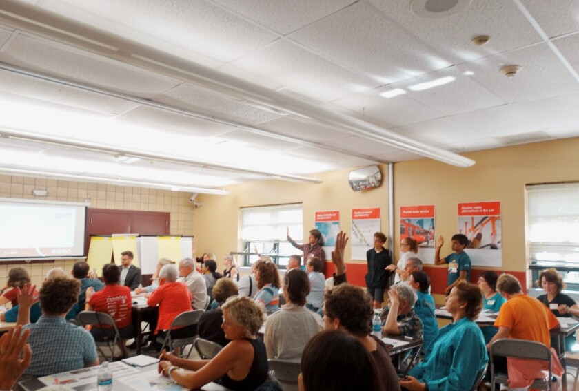 Carmel Valley's forum was well-attended.
