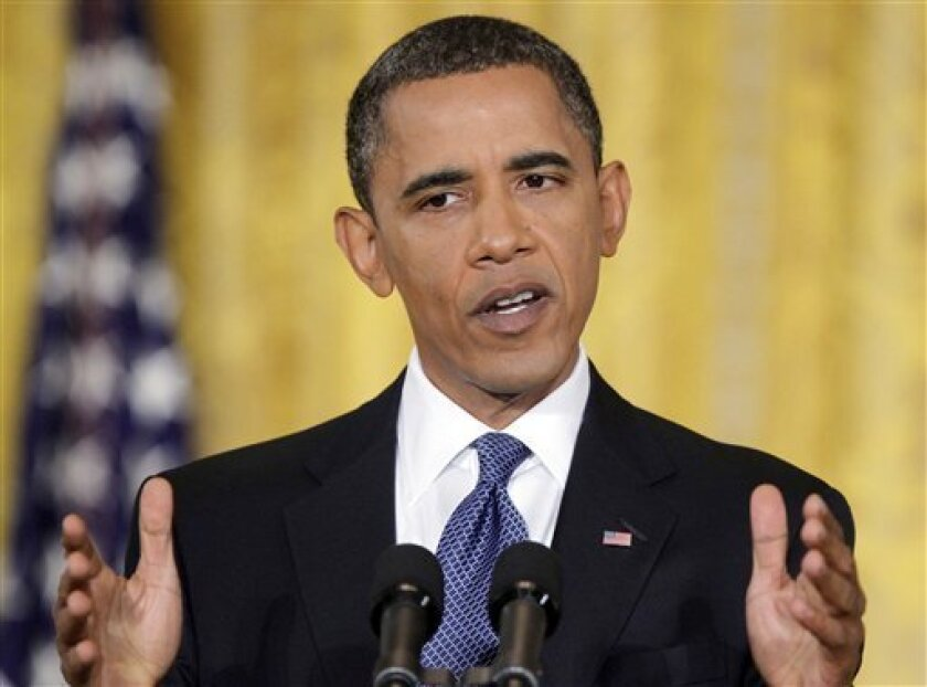 President Barack Obama answers questions during a news conference in the East Room of the White House in Washington, Friday, Sept. 10, 2010. (AP Photo/Pablo Martinez Monsivais)