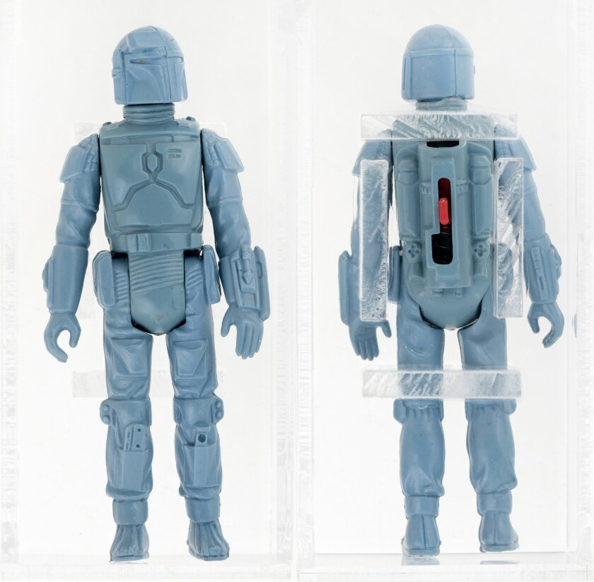 Only 3.75 inches tall, the prototype rocket-firing Boba Fett figure brought $86,383.47 in a Hake's Americana sale.