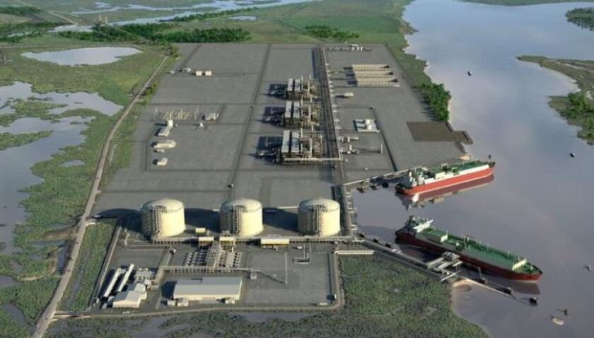 Rendering of Cameron LNG project in Louisiana.