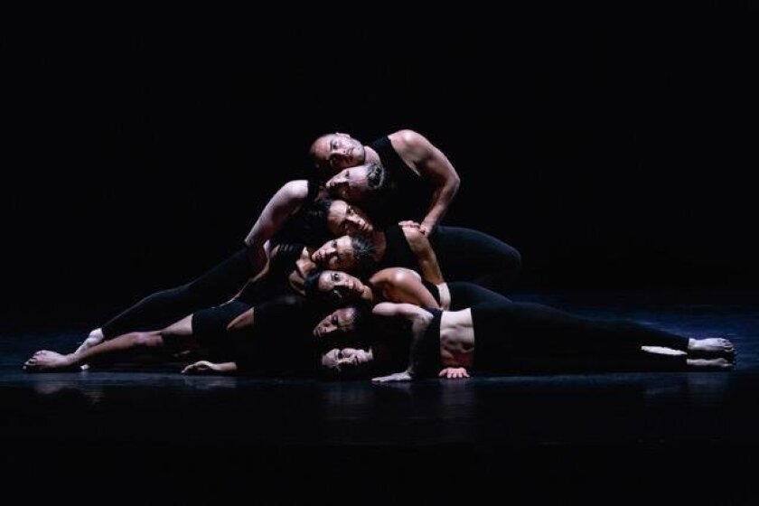 A 'headstack' from 'Dreams & Prayers,' one of the signature pieces Malashock Dance will perform in their intimate studio setting this month.
