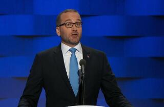 Chad Griffin of the Human Rights Campaign speaks at the Democratic National Convention