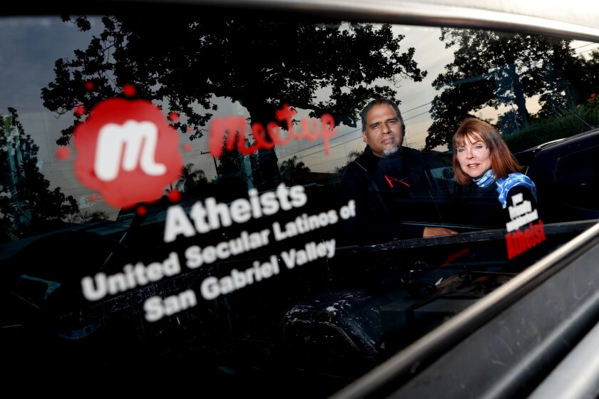 Alfredo Beltran and his wife, Catalina Beltran, Latino atheists in the San Gabriel Valley