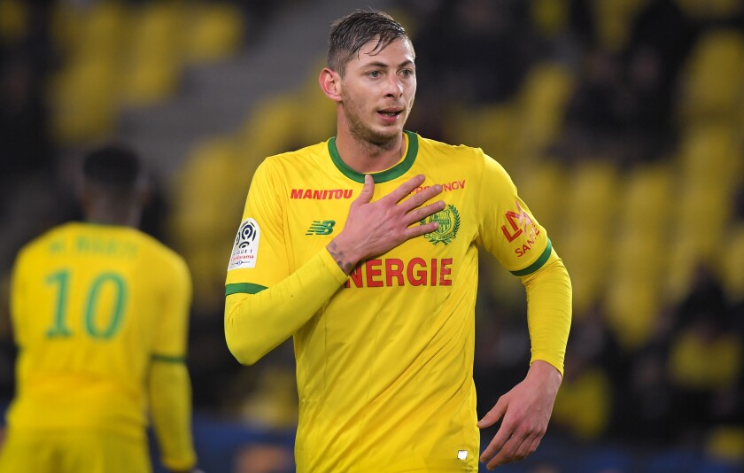 Argentic soccer player Emiliano Sala