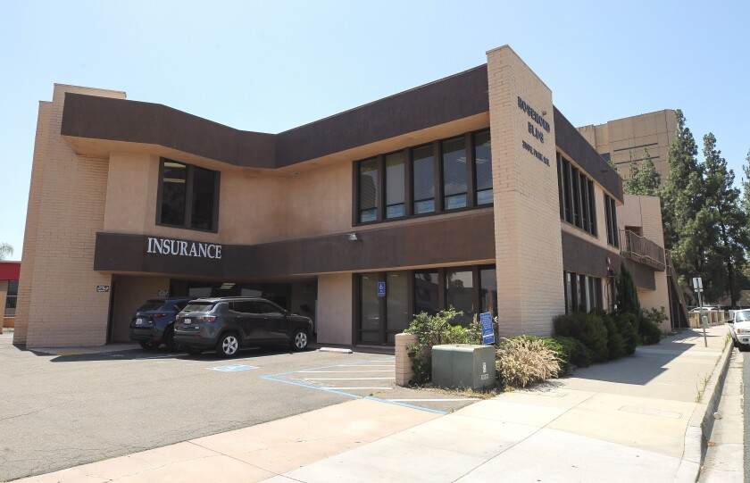 The building at 353 E. Park Ave. in El Cajon is listed as the location for a lending library where Inspire families can check out items like laptops, books and curriculum.