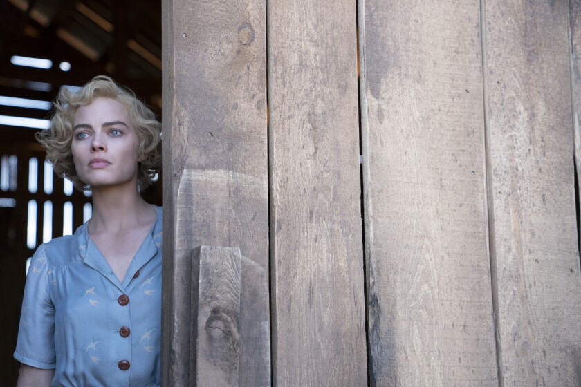 """Margot Robbie plays an injured Dust Bowl-era bank robber hiding out on a ruined farm in """"Dreamland."""""""