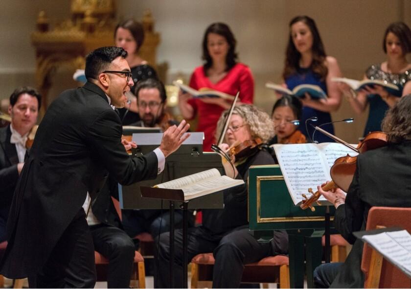 Ruben Valenzuela, founder and artistic director of Bach Collegium San Diego