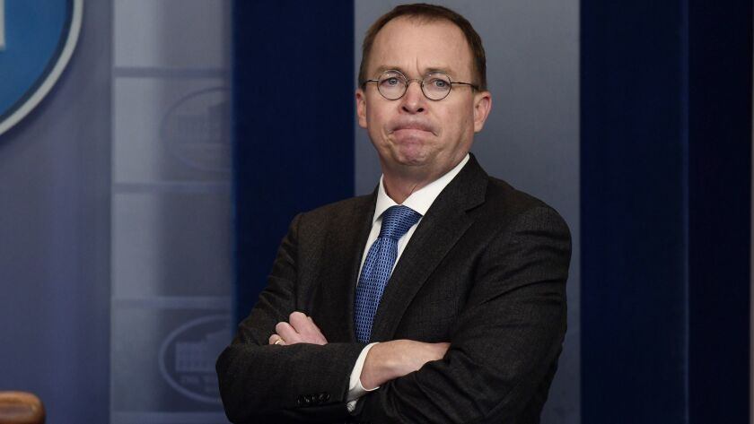 Mick Mulvaney, acting director of the Consumer Financial Protection Bureau and a harsh critic of the agency, at the White House in January.