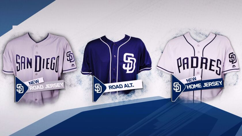 The Padres unveiled their 2017 uniforms on Tuesday, including new looks for their primary home and road jerseys.