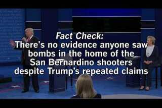 Trump's response to question on islamophobia by falsely claiming people saw bombs in the house of the San Bernardino shooters