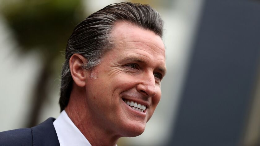 In his first State of the State speech, Gov. Gavin Newsom unveiled plans Tuesday for downscaling the two big, controversial infrastructure projects championed by his predecessor, Jerry Brown.