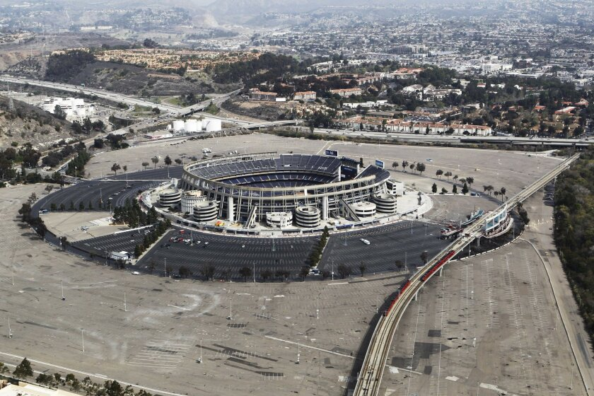 One idea for financing a new Chargers stadium is to redevelop the Qualcomm Stadium in Mission Valley.
