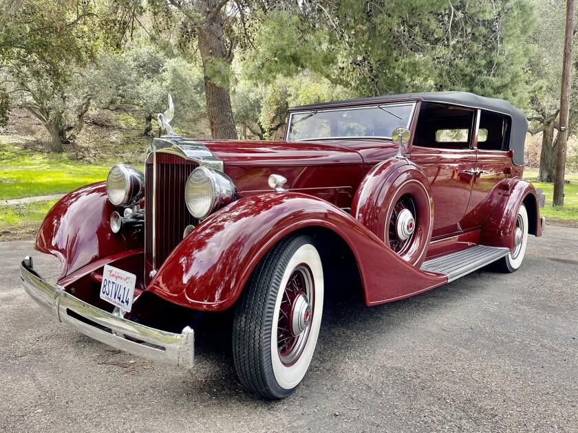 A 1934 Packard Standard 8 Convertible Sedan is owned by Mike Spera.