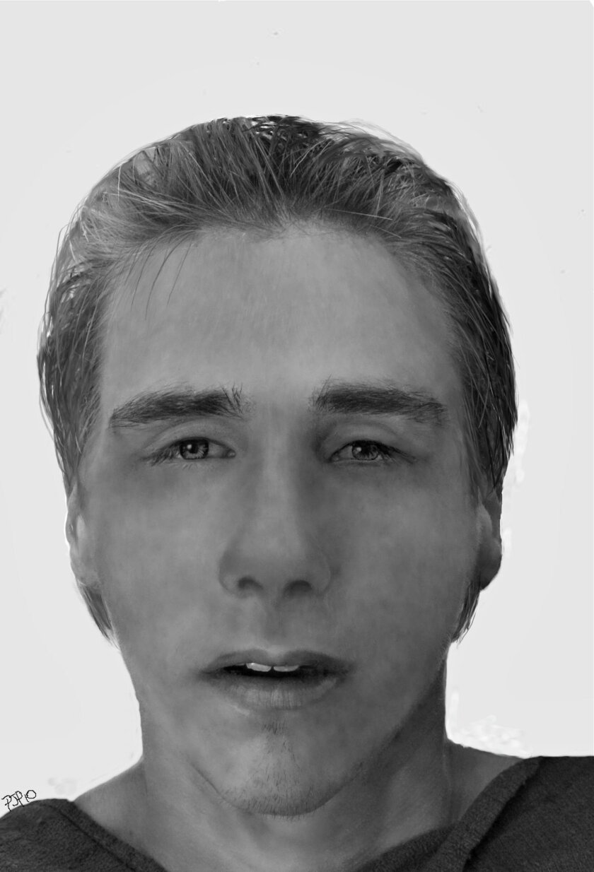 Authorities released this sketch of the man whose body was found floating off Ocean Beach pier last week.