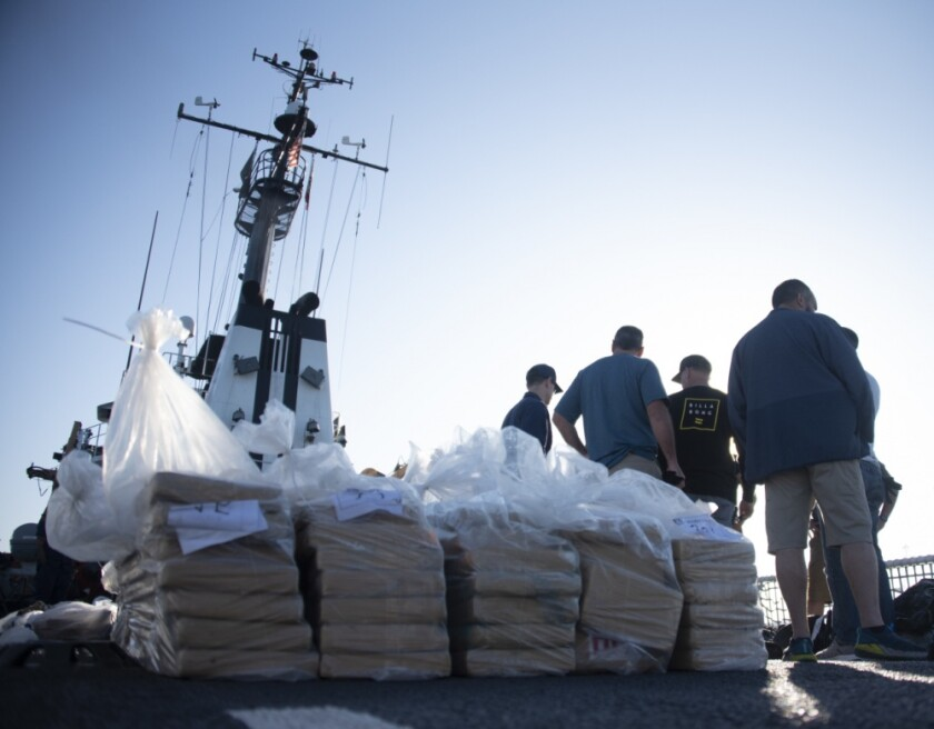 Coast Guard offloads $92 million worth of smuggled cocaine in San Diego