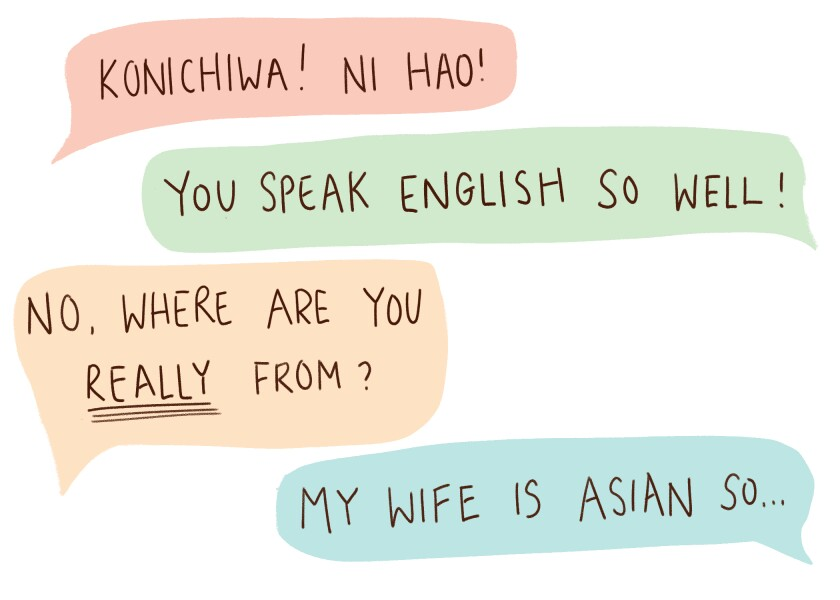 quote bubbles of various microaggressions
