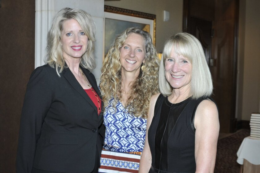 Literary Society Chapter leader Kelly Colvard, author Lily King, Chapter President Candace Humber. Photo by McKenzie Images
