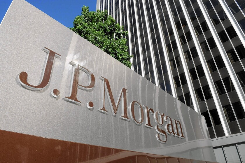 JPMorgan Chase Chief Executive Jamie Dimon said the bank's spending on cybersecurity would reach $250 million this year. Above, the company's offices in Los Angeles.