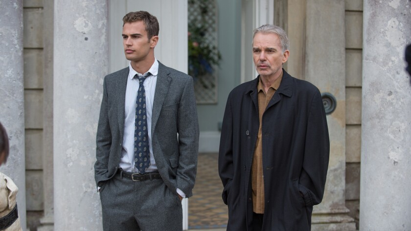 "(L-R) - Theo James and Billy Bob Thorton in a scene from ""London Fields."" Credit: Steffan Hill"