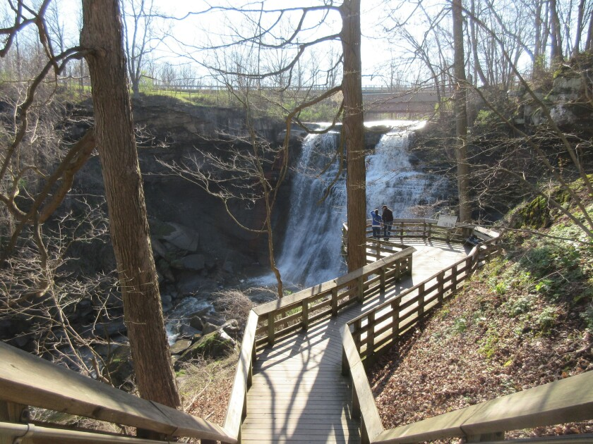 Visitors view Brandywine Falls at Cuyahoga Valley National Park in Sagamore Hills, Ohio. The overlook is a short walk from the parking lot and offers a quick and scenic respite from nearby Cleveland. Read full story here.