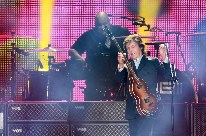 Drummer Abe Laboriel Jr. and McCartney are the band's rhythm section and others pitch in on bass when McCartney doubles on other instruments.