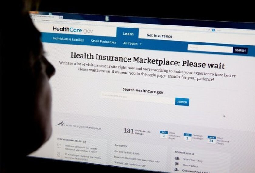 Computer problems have marred the launch of the federal government's website for Americans to enroll for health coverage under the Affordable Care Act.