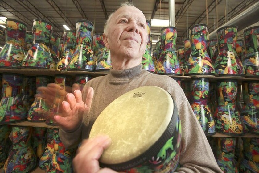 Remo Belli, founder and CEO of drum maker Remo Inc., is credited with spurring the rock 'n' roll craze by making drums readily available.