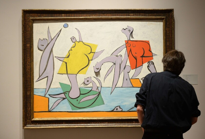 """""""Le Sauvetage"""" by Pablo Picasso on display during a preview of a Sotheby's auction in New York."""