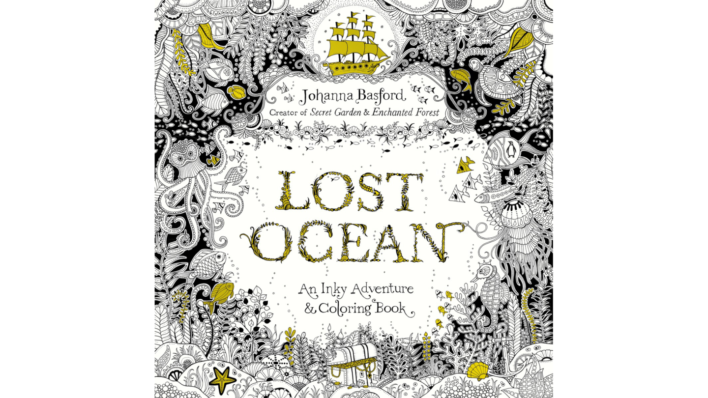 """Johanna Basford kicked off the adult coloring craze with her book """"Secret Garden."""" In her latest, """"Lost Ocean,"""" she turns her talents to an undersea world."""