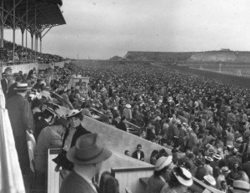 Fans enjoy the meet in 1955. Photo courtesy of Del Mar Thoroughbred Club