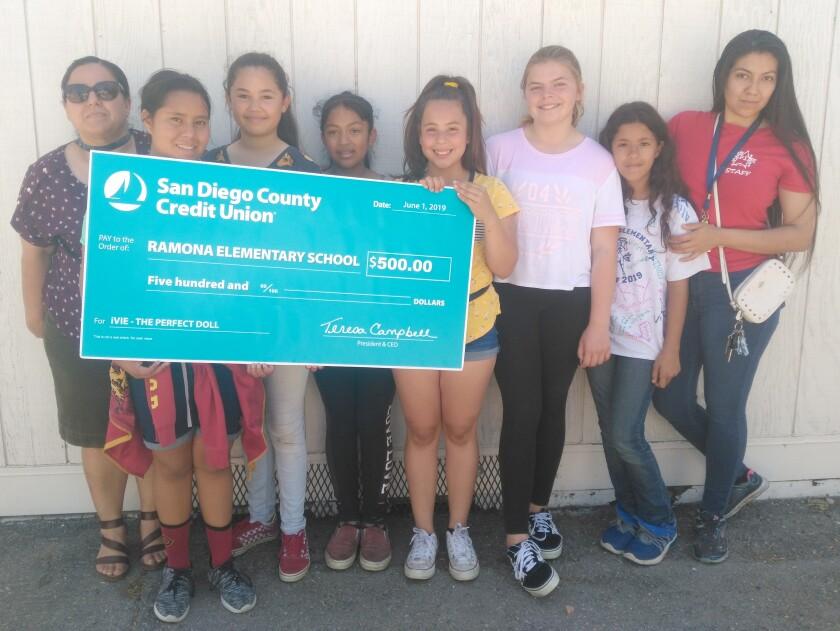 Copy - Ramona Elementary Winners with Check.jpg