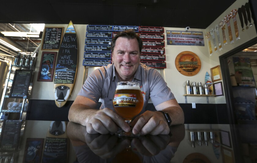 New San Diego Brewers Guild President Paul Sangster, co-owner of Rip Current Brewing in San Marcos.