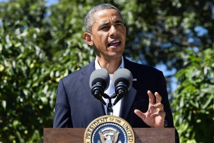 President Obama takes a break Thursday from his vacation on Martha's Vineyard to address the crisis in Egypt.