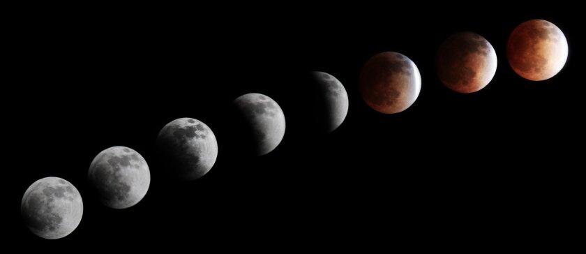Lunar Eclipse of April 14, 2014. By Pearl Preis
