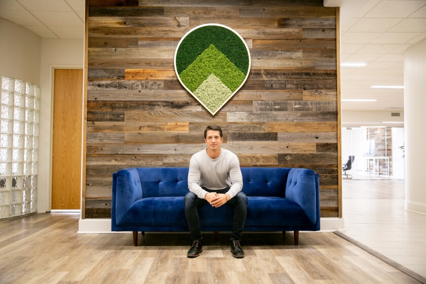 Alex Goode, CEO of the startup software company GoSite, at the company's new headquarters.