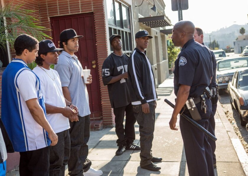 """""""Straight Outta Compton,"""" the hit drama about the seminal '90s rap group N.W.A, was named top film of 2015 Monday by the African American Film Critics Assn."""
