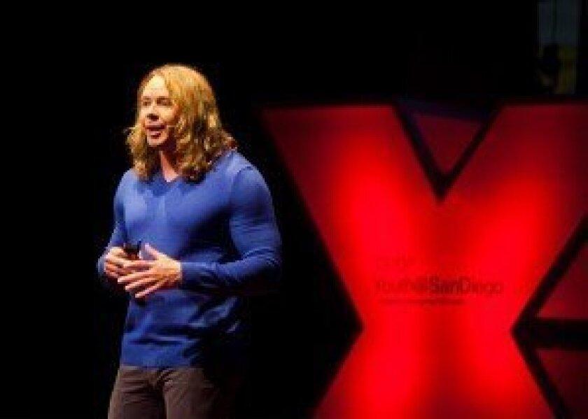 Cinema coordinator Mark Raines, speaking at the 2013 TEDxYouth@SanDIego event.