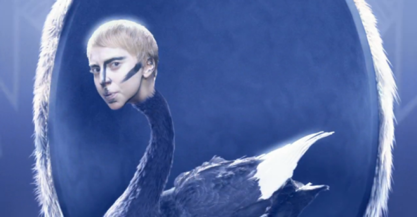 """Lady Gaga in a screen shot from her new video for """"Applause"""""""