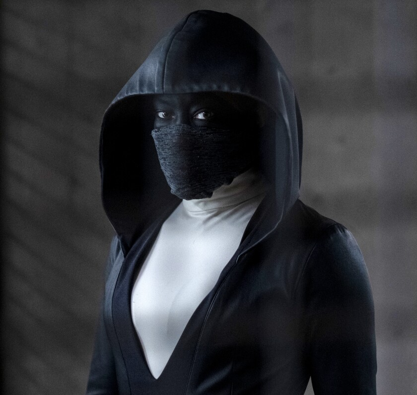 "Regina King as Sister Night in ""Watchmen"" on HBO."
