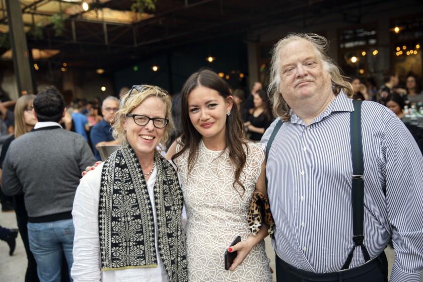 Amy Scattergood, Jenn Harris and Jonathan Gold