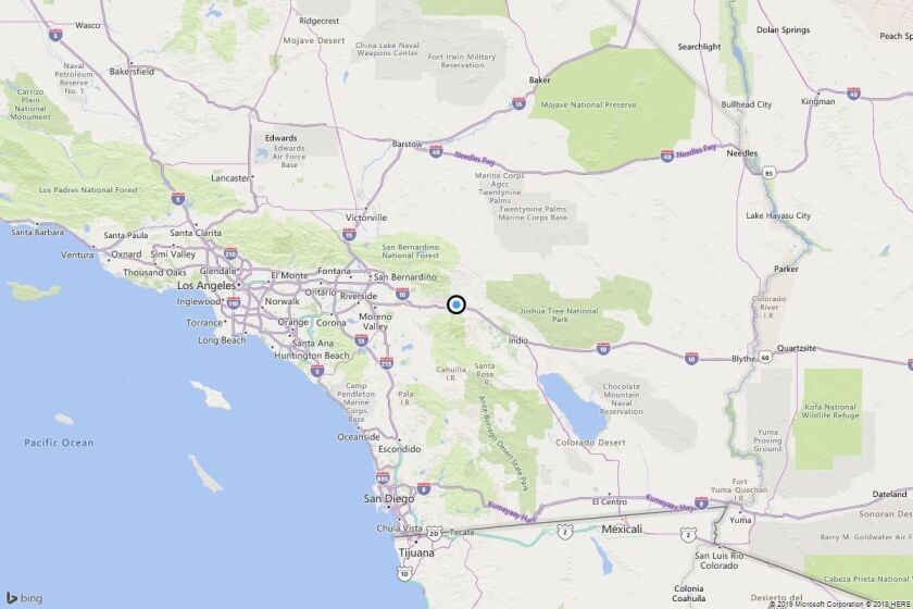 Earthquake: 3.3 quake strikes near Cabazon, Calif.