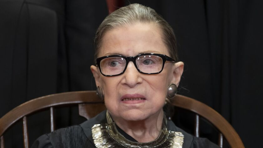 Justice Ruth Bader Ginsburg, a longtime advocate for women's rights, believes the Equal Rights Amendment's 1982 deadline for ratification must be enforced.