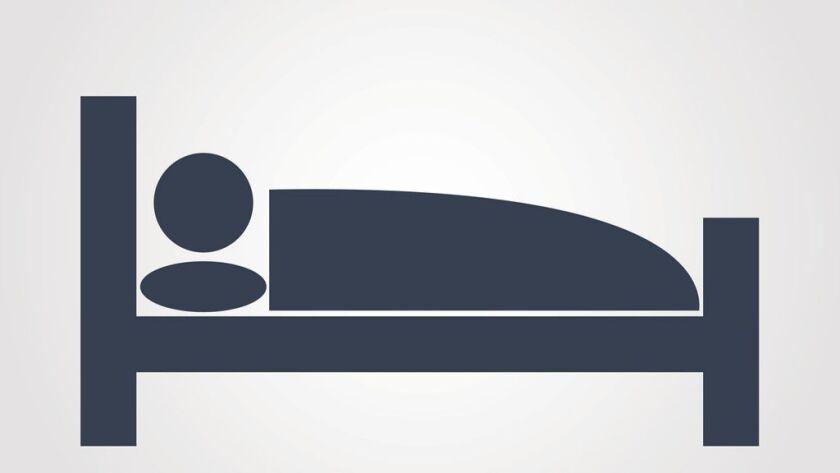 Sleeping symbol on gray background