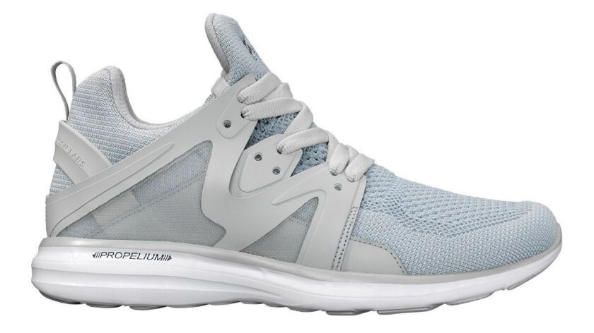 APL's unisex Ascend sneaker is a training shoe but sleek enough to be worn when you're not burning c
