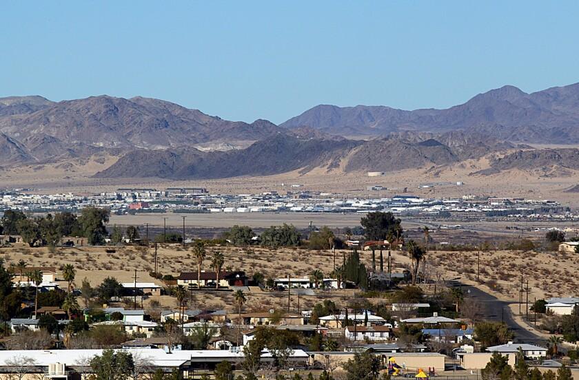 Twentynine Palms sits in the Mojave Desert.