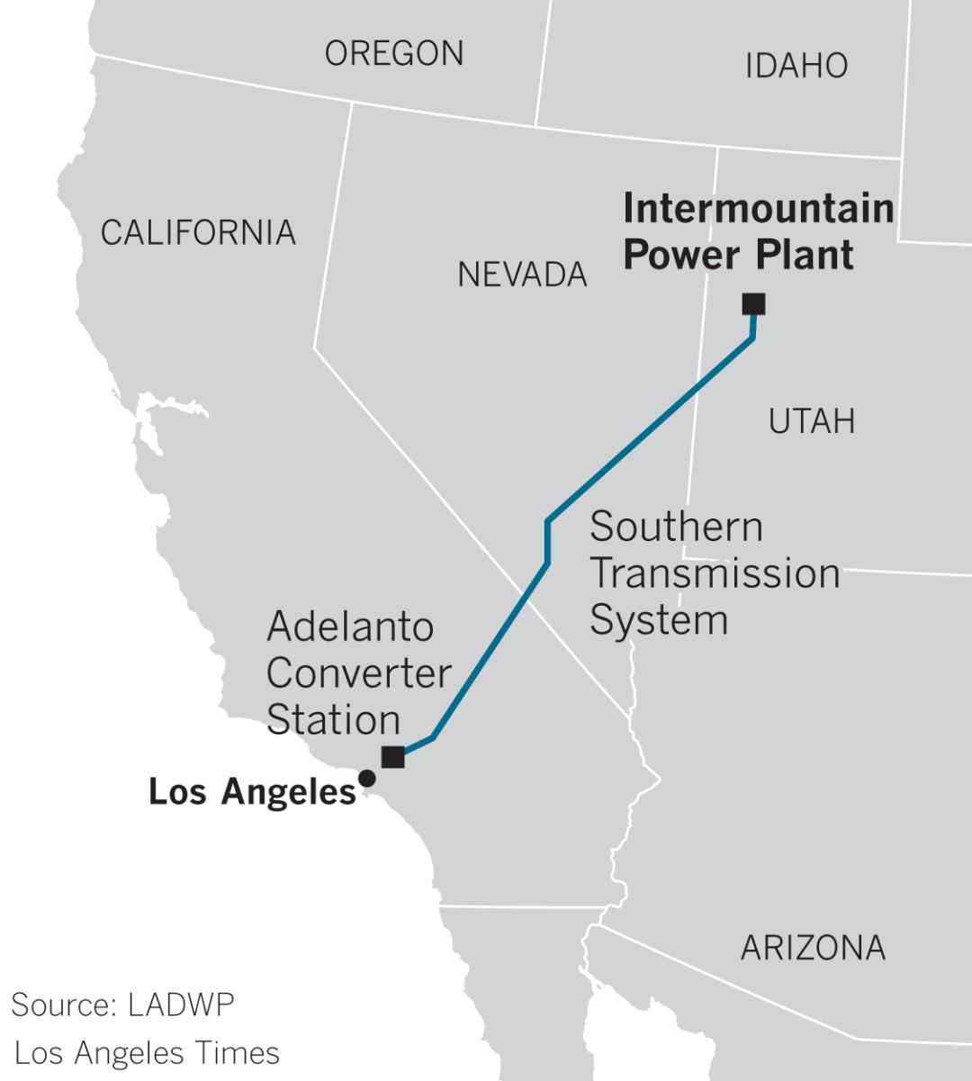 Intermountain Power Plant map
